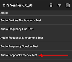 audio latency loopback