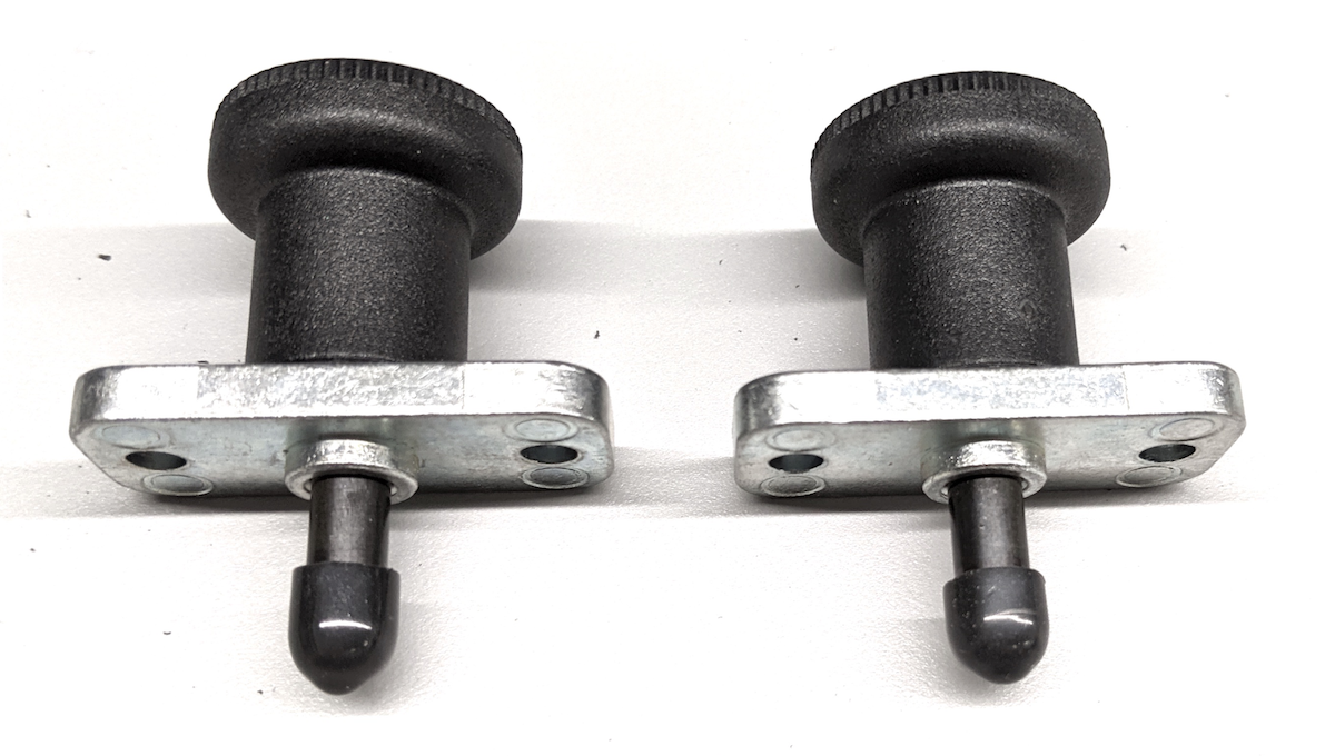 Plungers with adjusted push-on cap