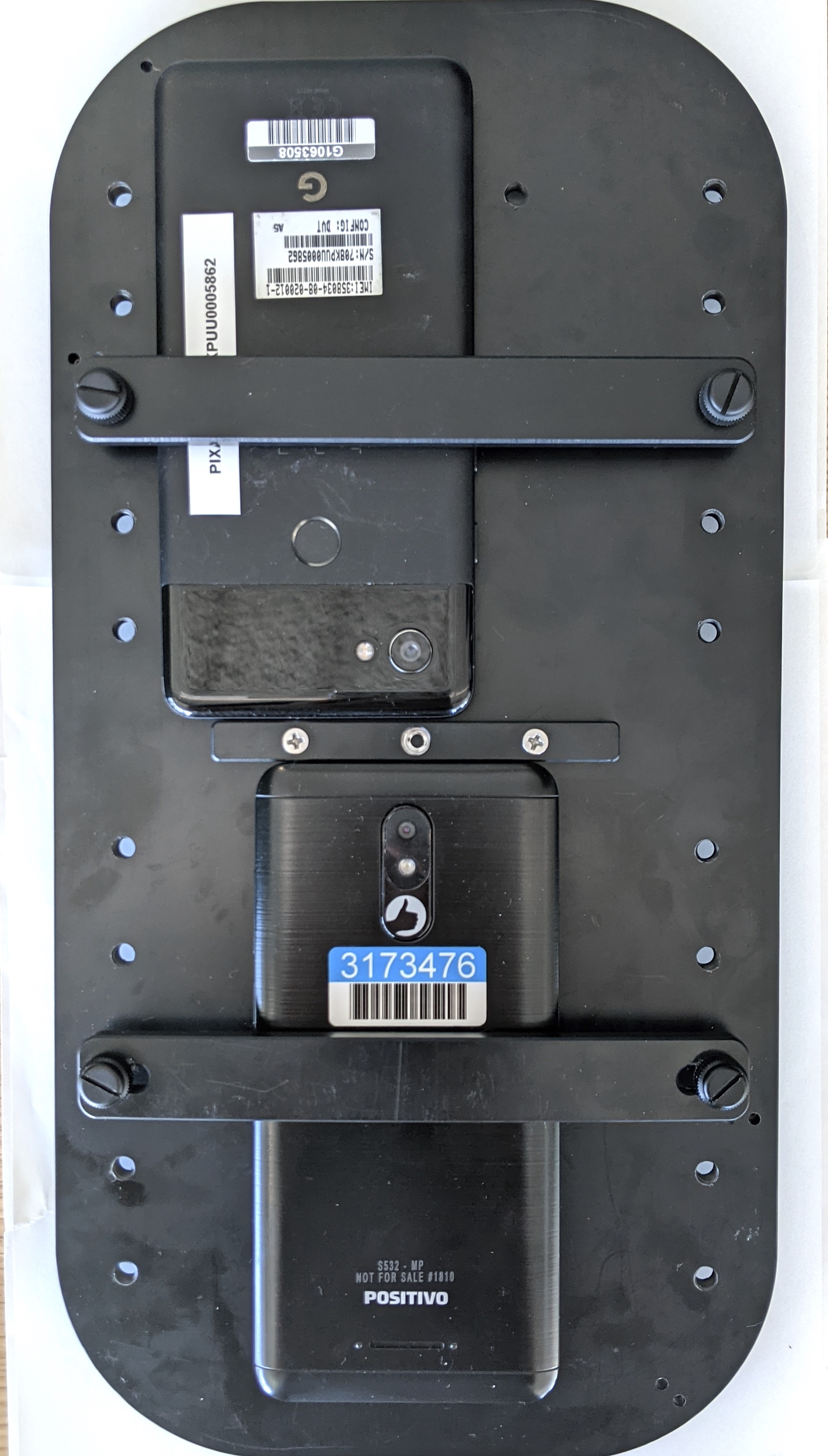 Attaching phone on fixture