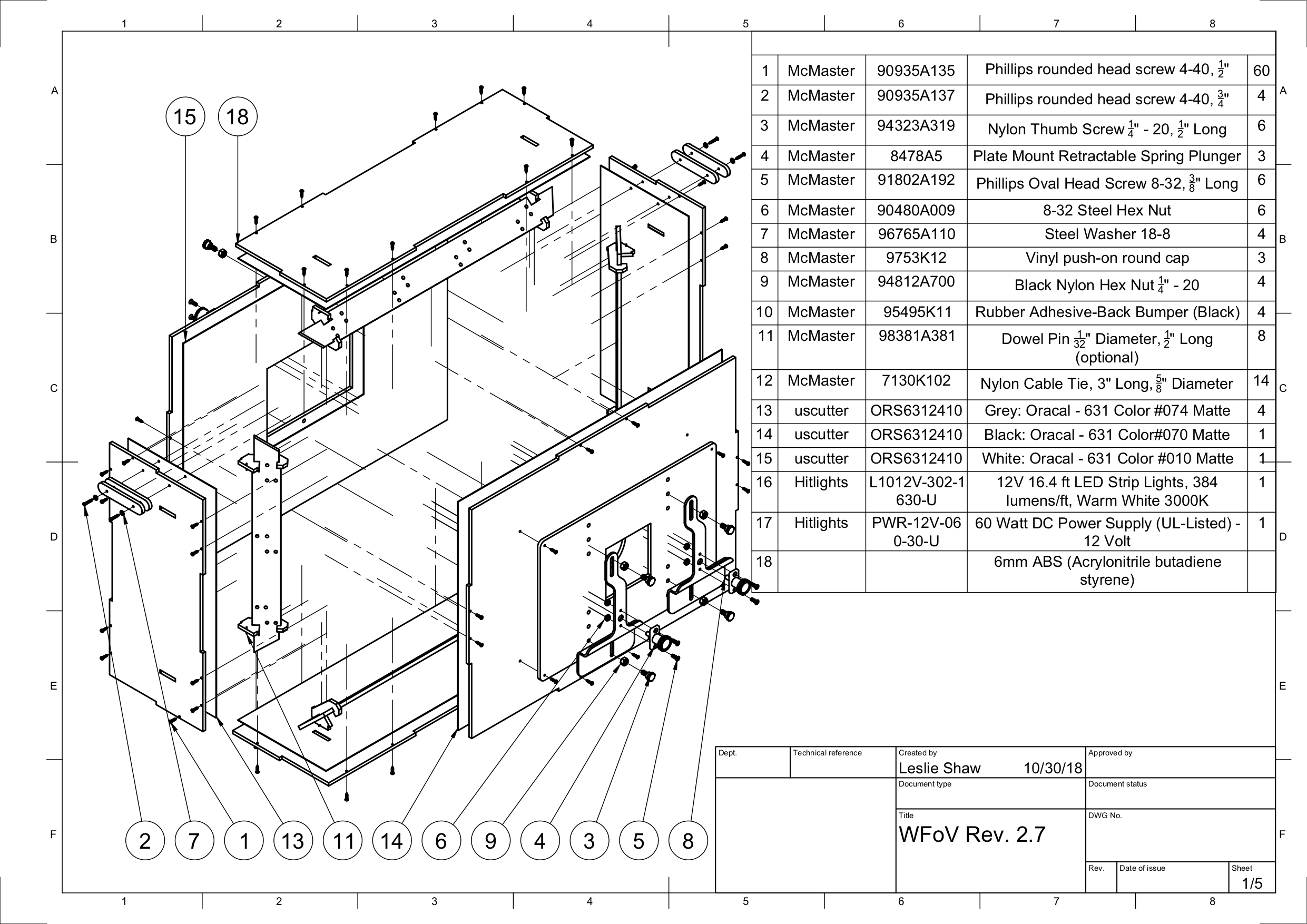 CAD drawing of WFOV ITS-in-a-box