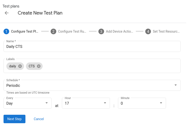 Configure Test Plan