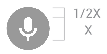 Voice search button icon sizing requirements
